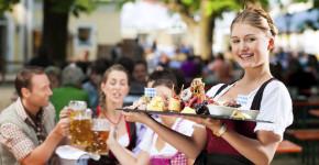 Beer garden restaurant - beer and snacks