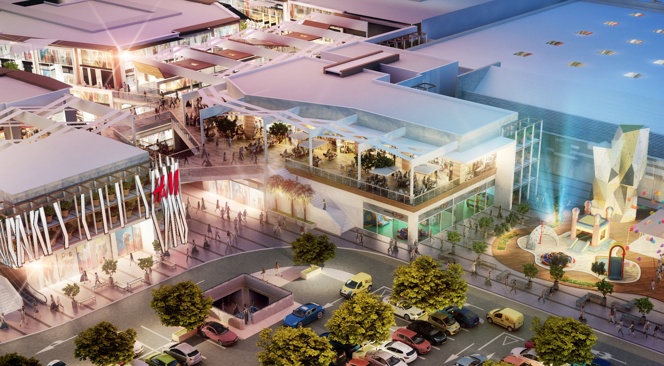 la apertura del nuevo centro comercial en palma de