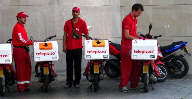 Repartidores de Telepizza (Flickr)
