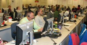 Jornada de trabajo en el call center
